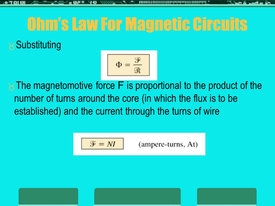 Ohm's Law For Magnetic Circuits