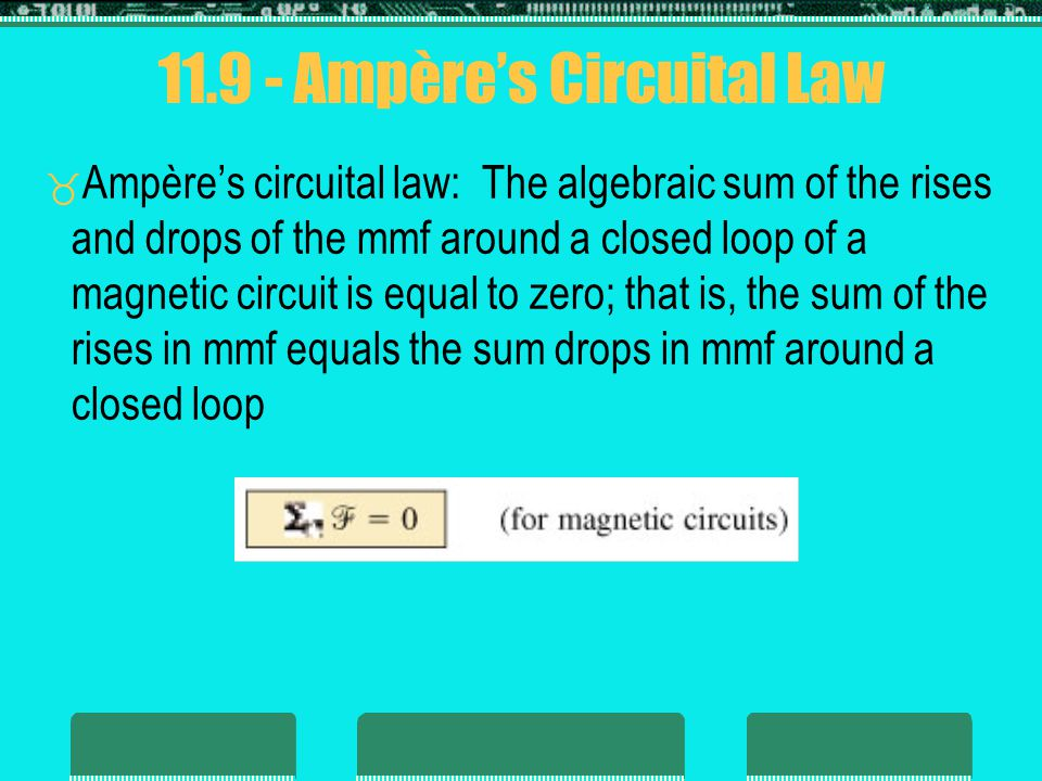 11.9 - Ampère's Circuital Law