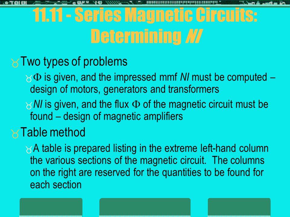 11.11 - Series Magnetic Circuits: Determining NI