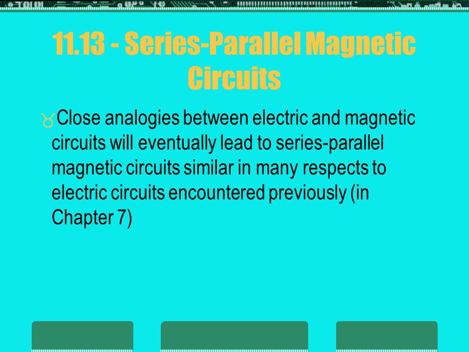 Series-Parallel Magnetic Circuits