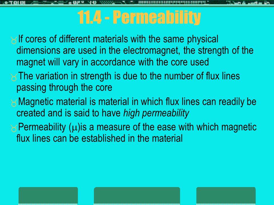 11.4 - Permeability
