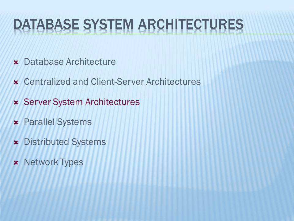 Database System Architectures