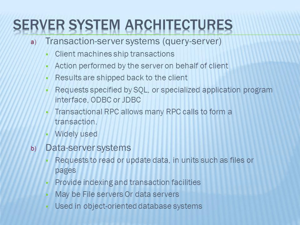 Server System Architectures