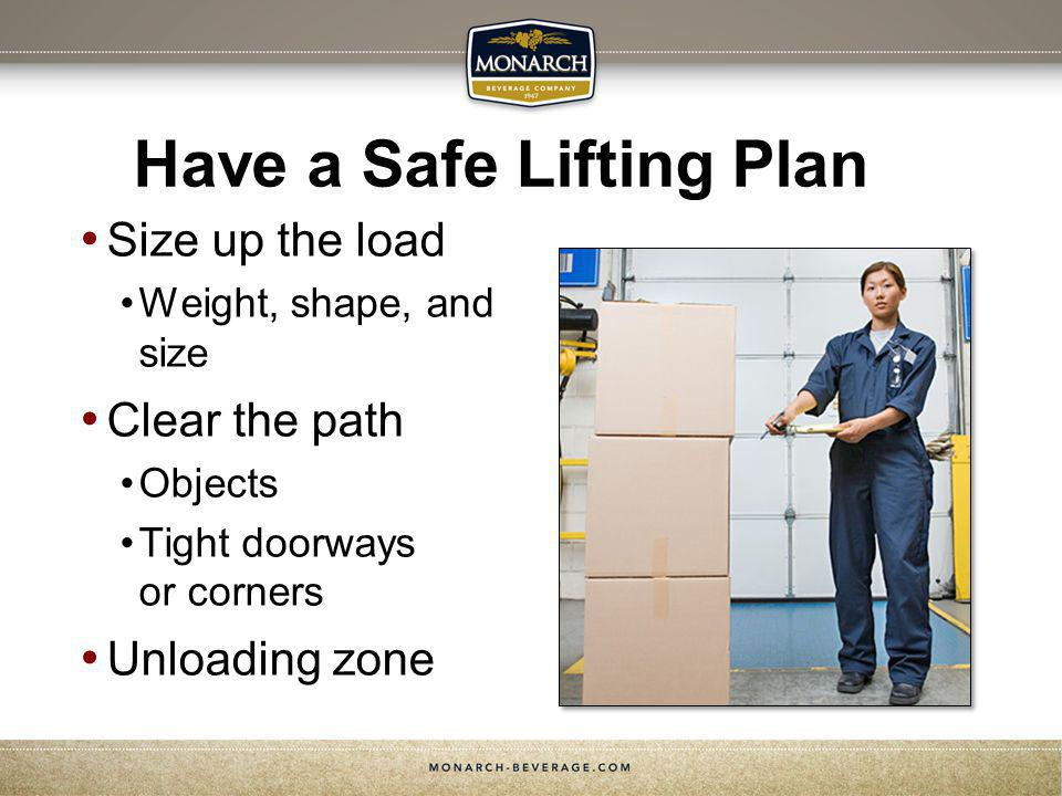 Have a Safe Lifting Plan