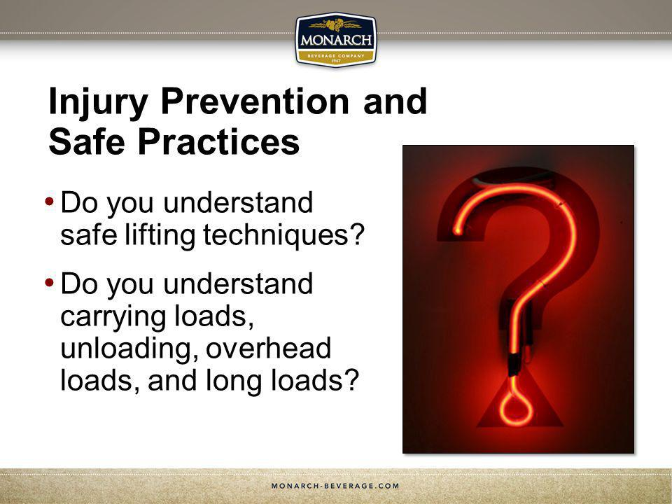 Injury Prevention and Safe Practices