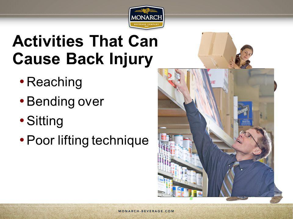 Activities That Can Cause Back Injury