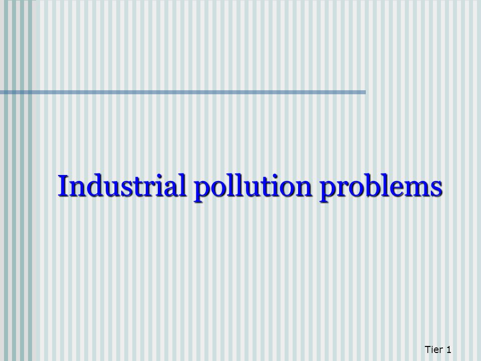 Industrial pollution problems