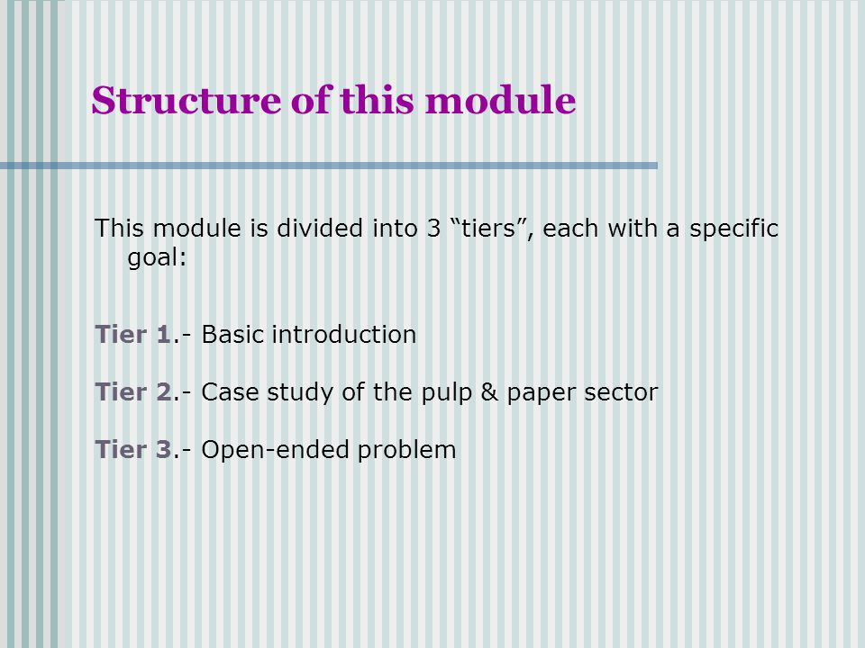 Structure of this module