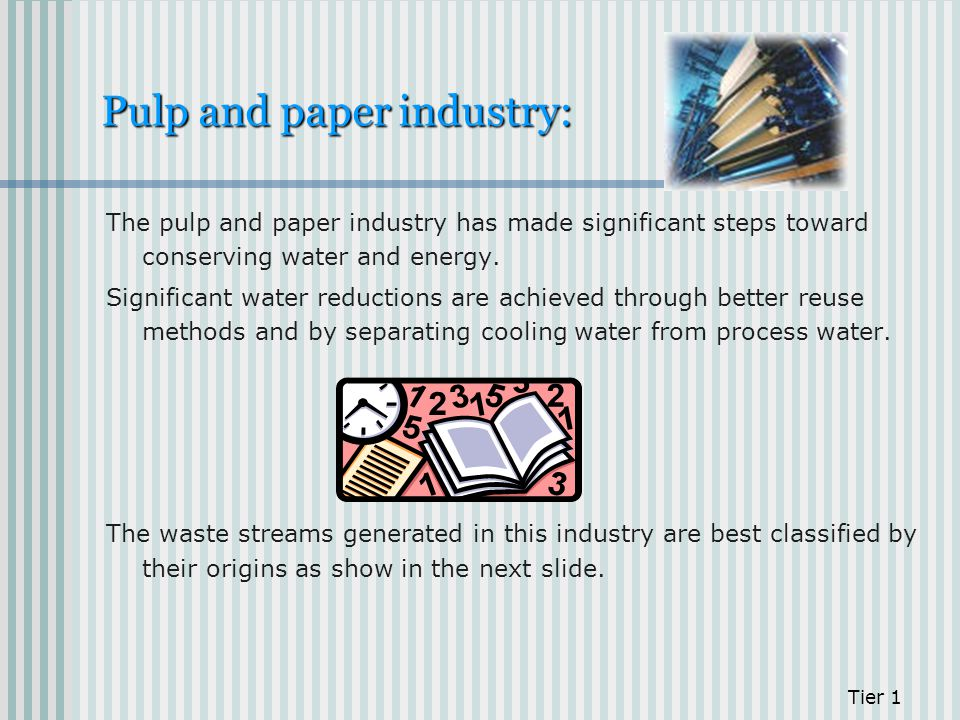 Pulp and paper industry: