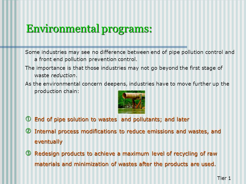 Environmental programs: