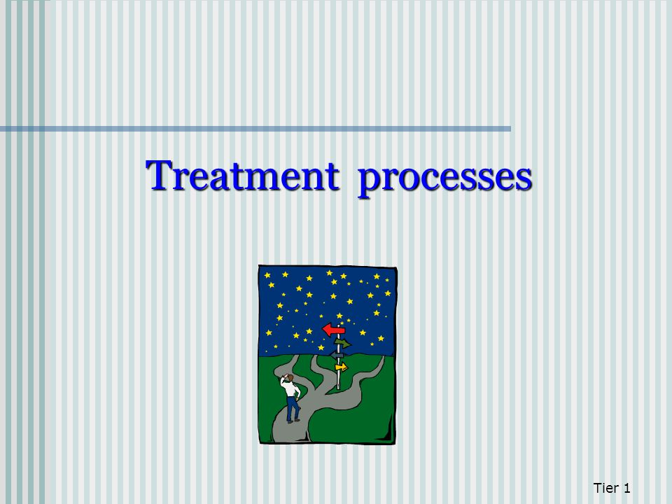 Treatment processes Tier 1