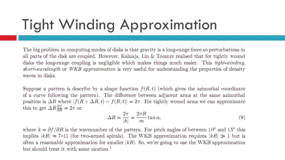 Tight Winding Approximation