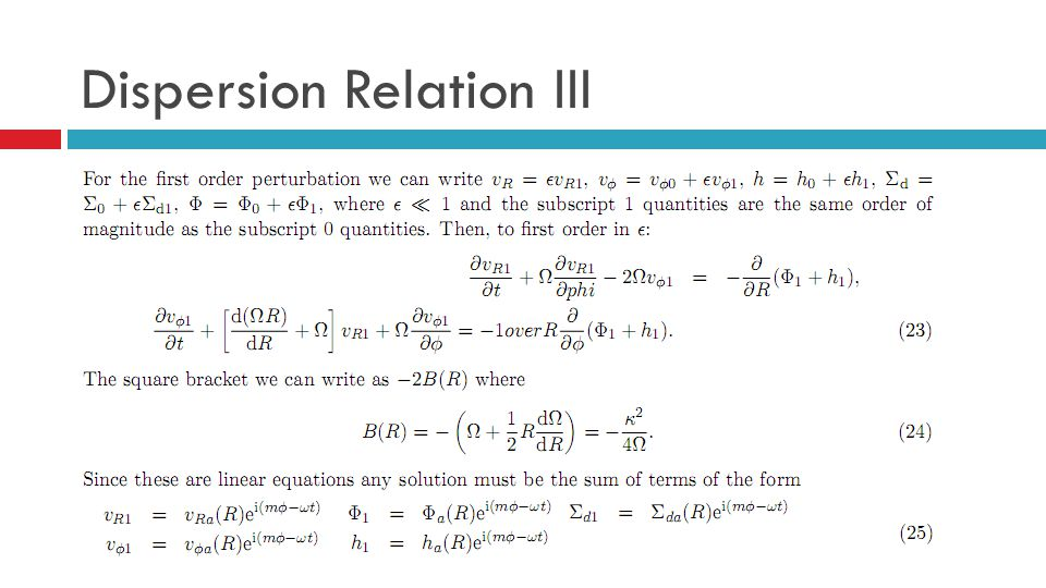Dispersion Relation III