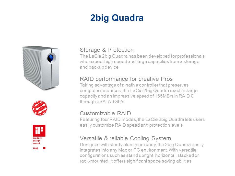 2big Quadra Storage & Protection RAID performance for creative Pros
