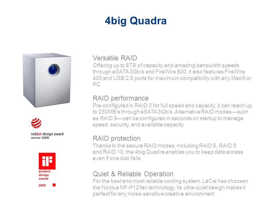 4big Quadra Versatile RAID RAID performance RAID protection