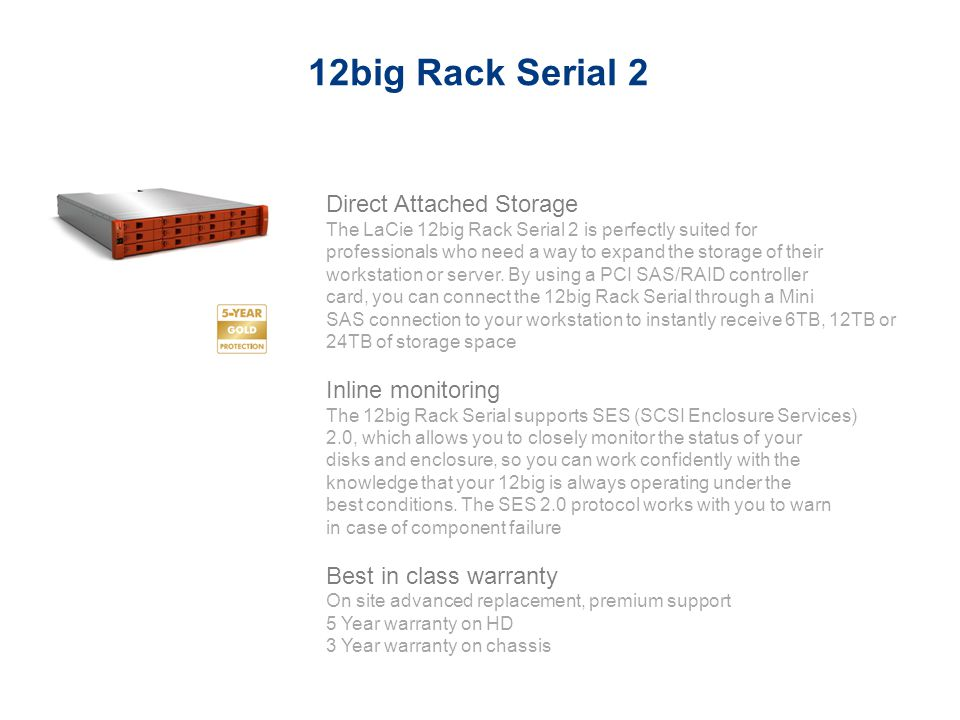 12big Rack Serial 2 Direct Attached Storage Inline monitoring