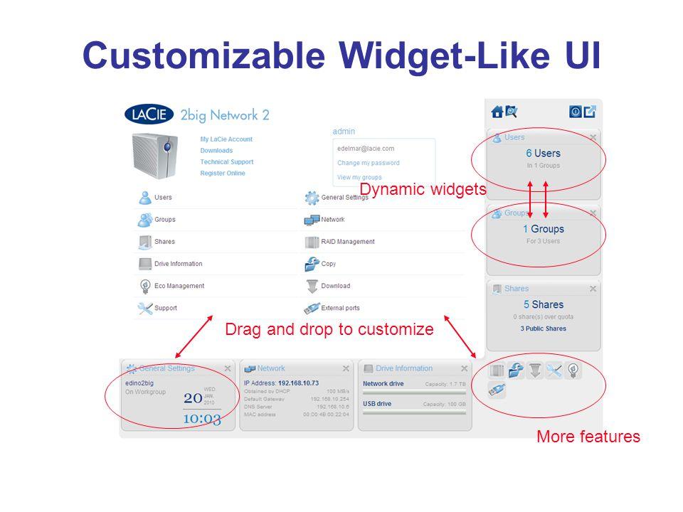 Customizable Widget-Like UI