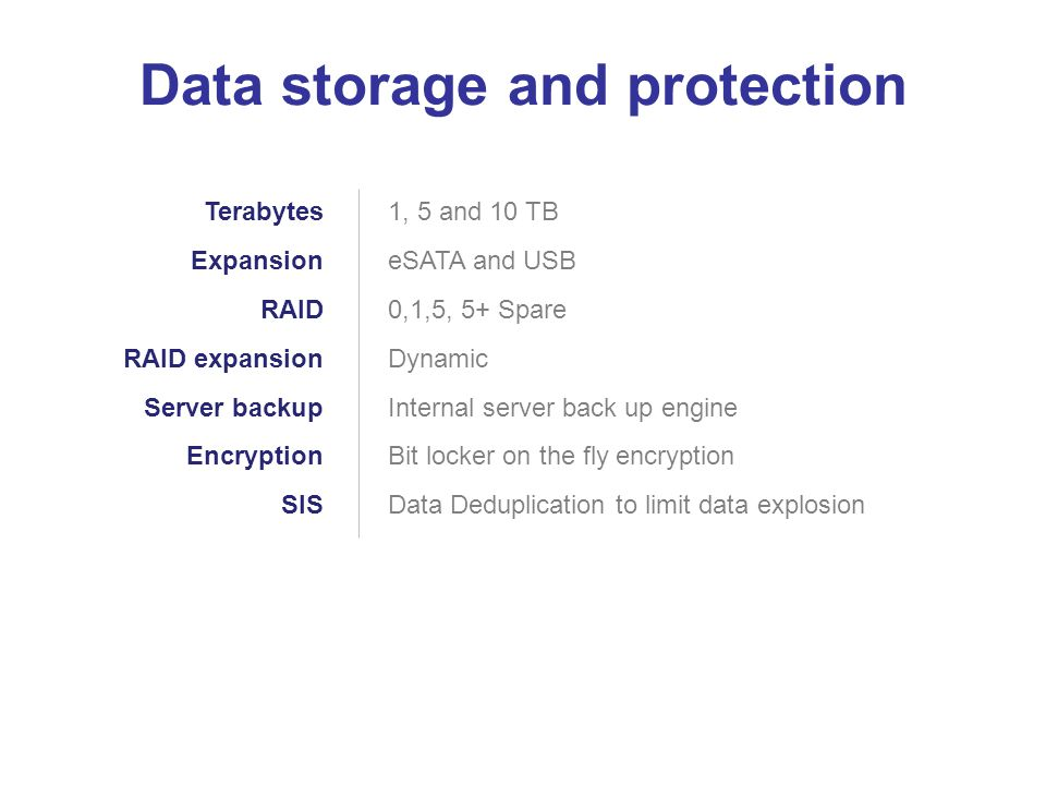 Data storage and protection