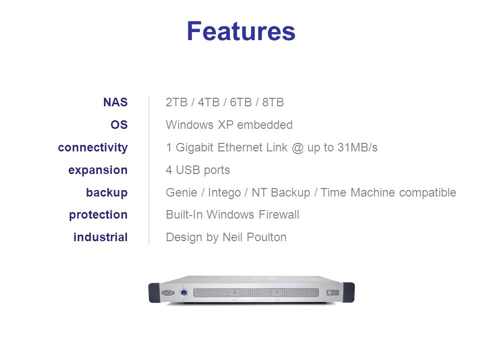 Features NAS OS connectivity expansion backup protection industrial