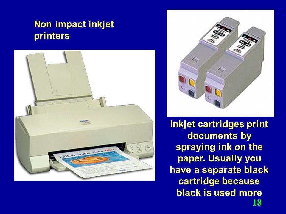 Non impact inkjet printers