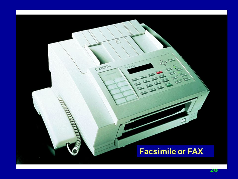 Facsimile or FAX