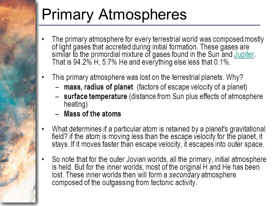 Primary Atmospheres