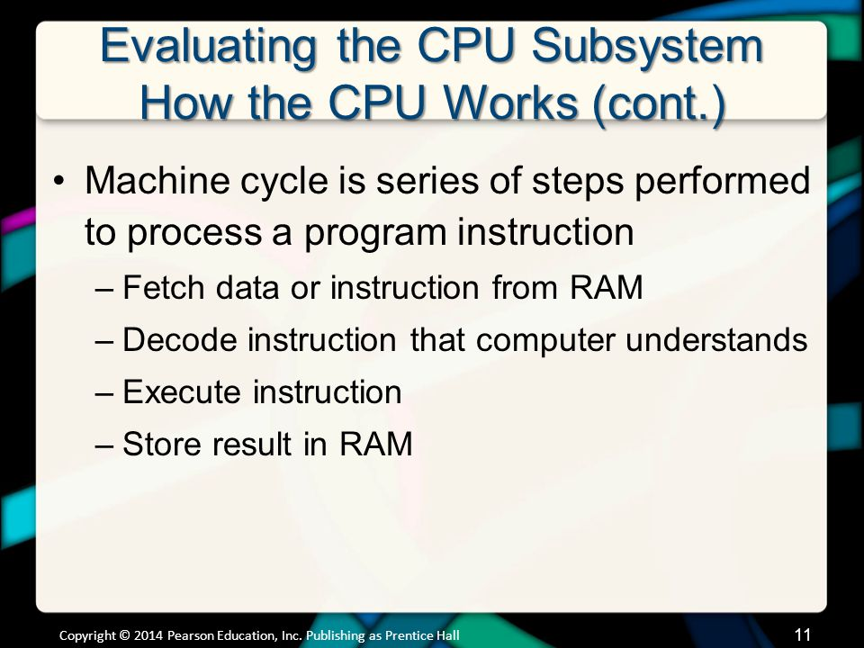 Evaluating the CPU Subsystem CPU Factors