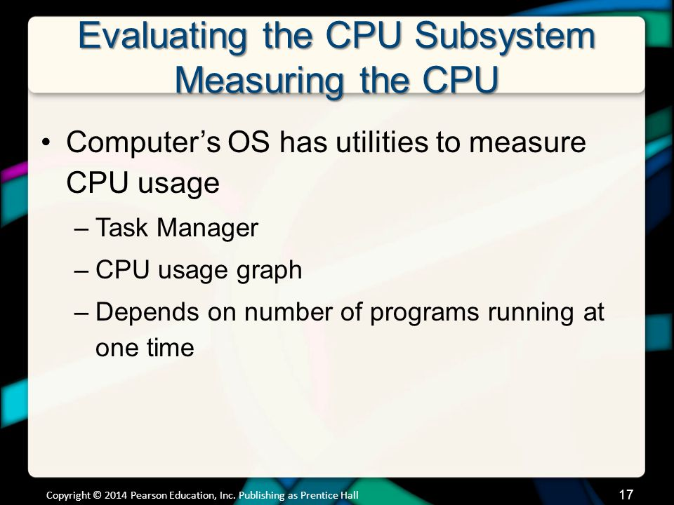 Evaluating the CPU Subsystem Measuring the CPU (cont.)