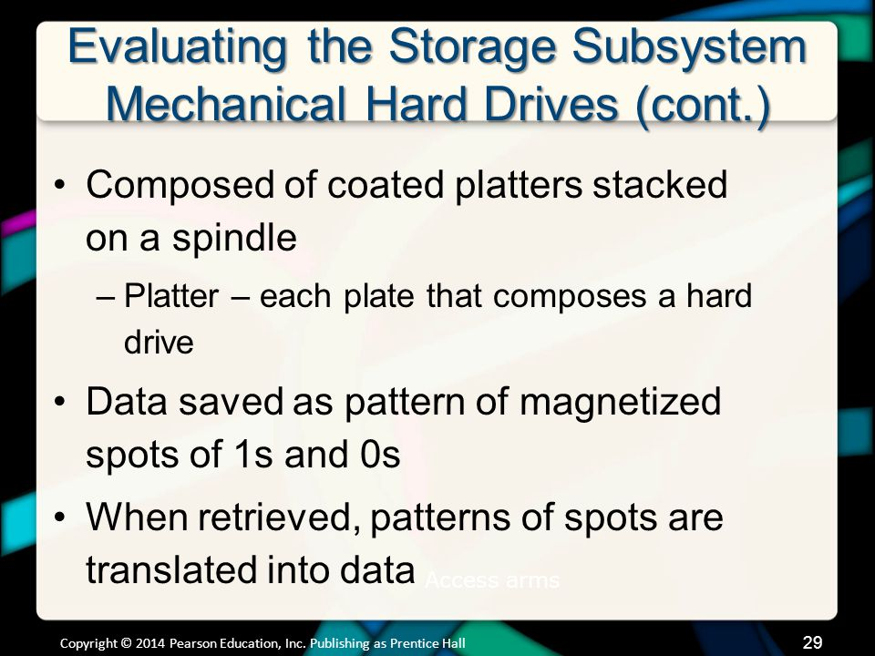 Evaluating the Storage Subsystem Mechanical Hard Drives (cont.)