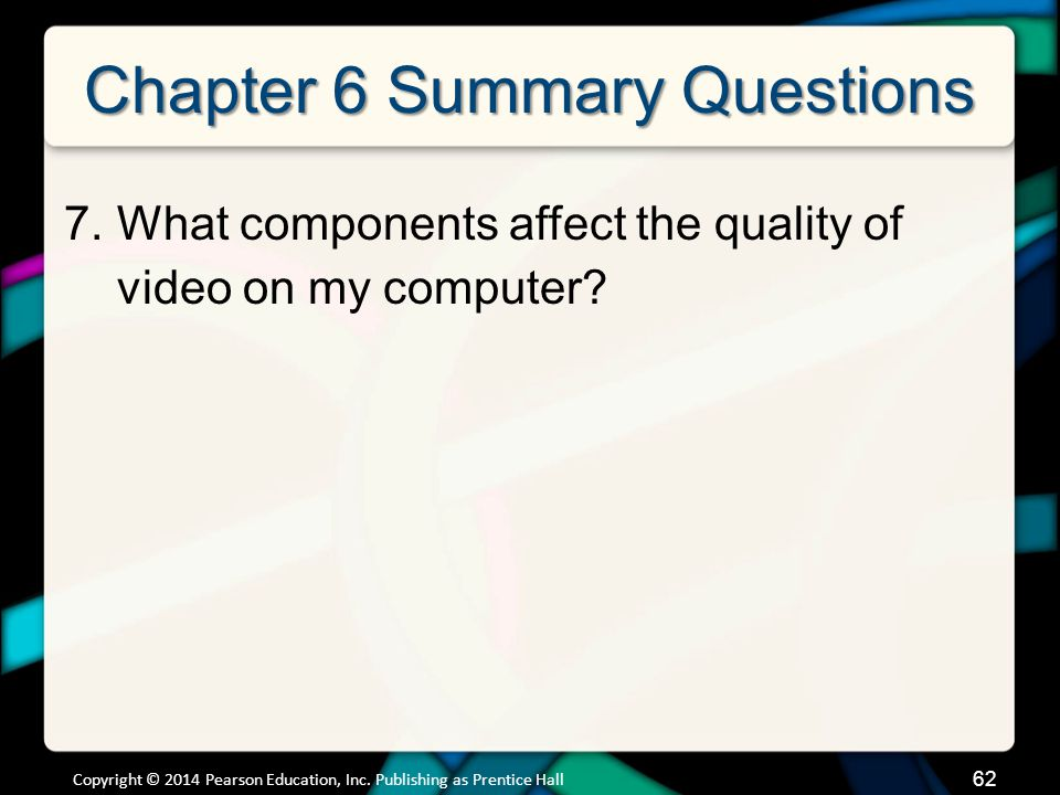 Chapter 6 Summary Questions