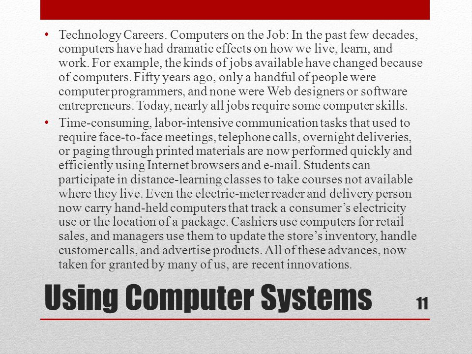 Using Computer Systems