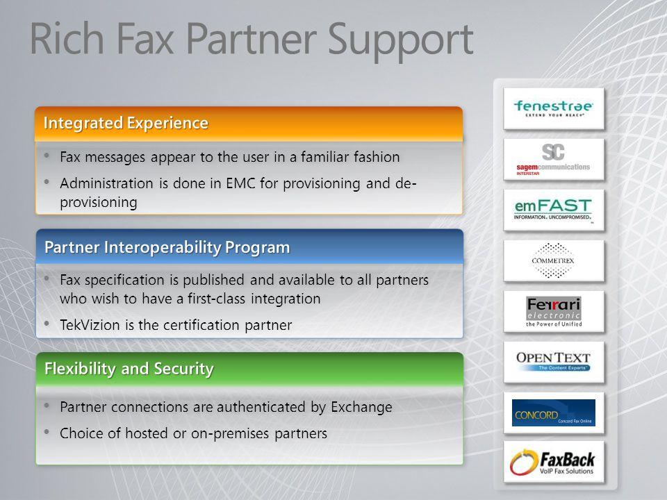Rich Fax Partner Support