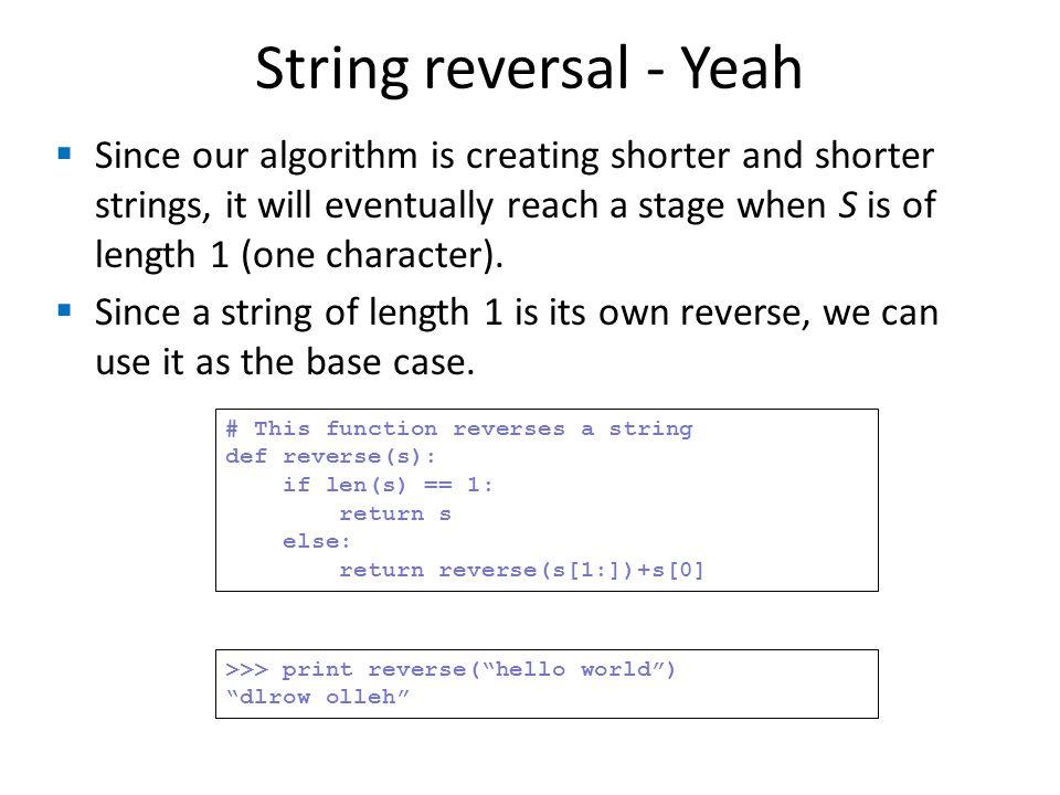 String reversal - Yeah