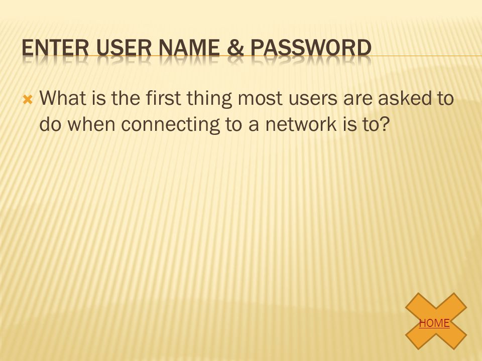 Enter user name & password