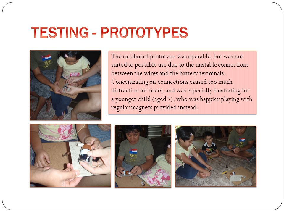 TESTING - PROTOTYPES
