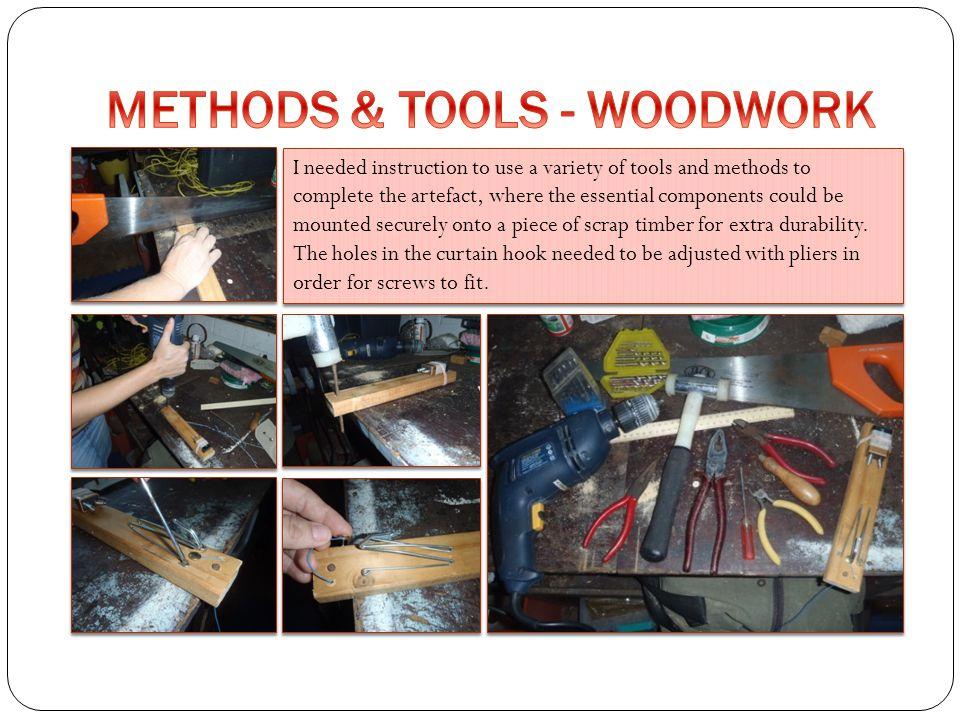 METHODS & TOOLS - WOODWORK