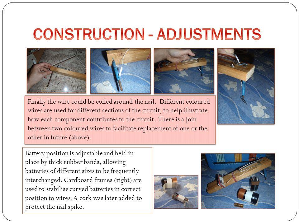 CONSTRUCTION - ADJUSTMENTS