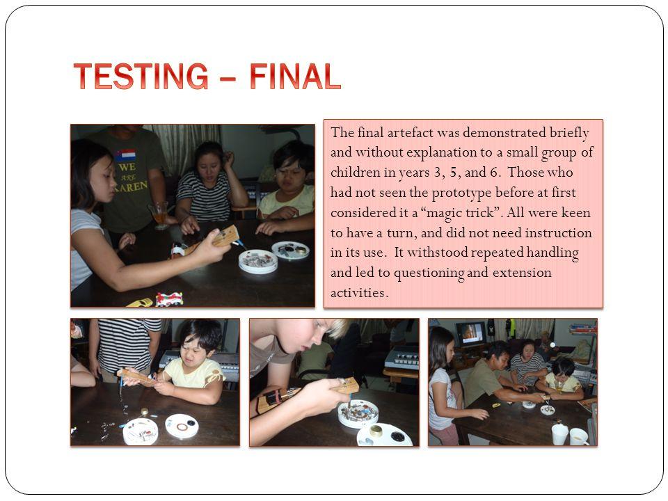 TESTING – FINAL