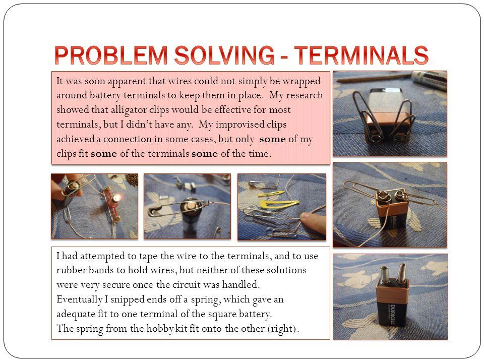 PROBLEM SOLVING - TERMINALS