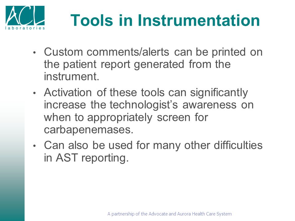 Tools in Instrumentation