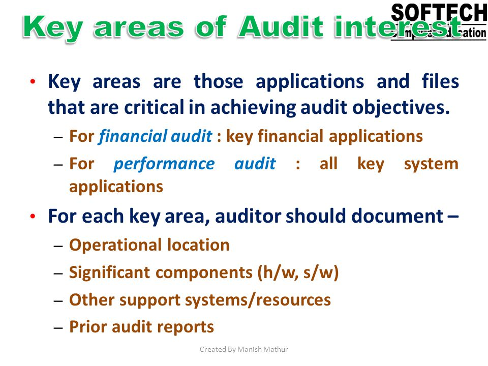 Key areas of Audit interest