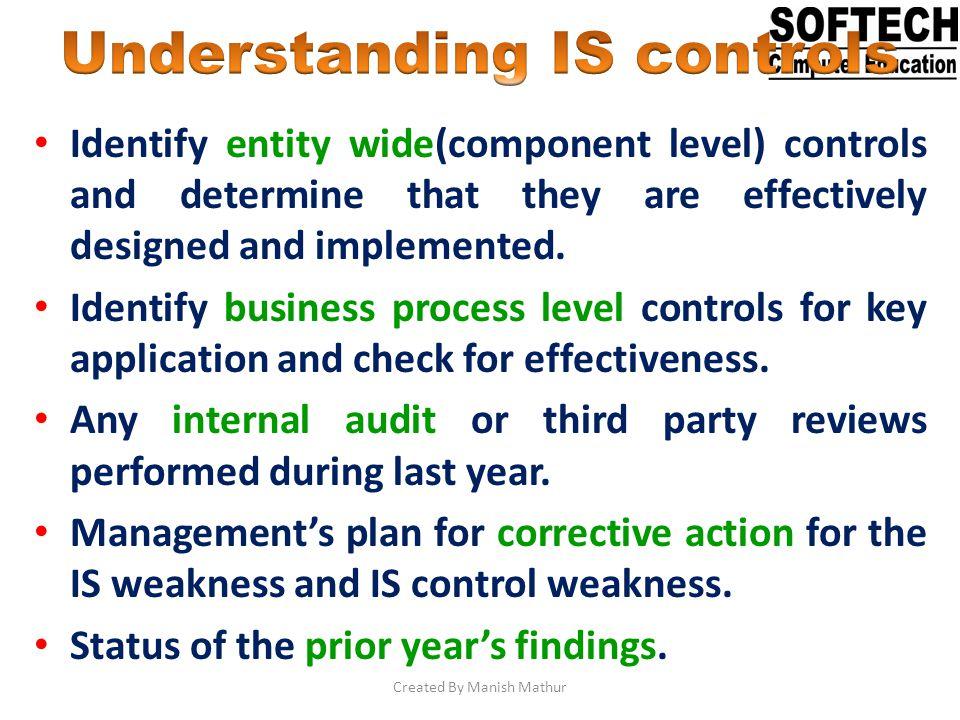 Understanding IS controls