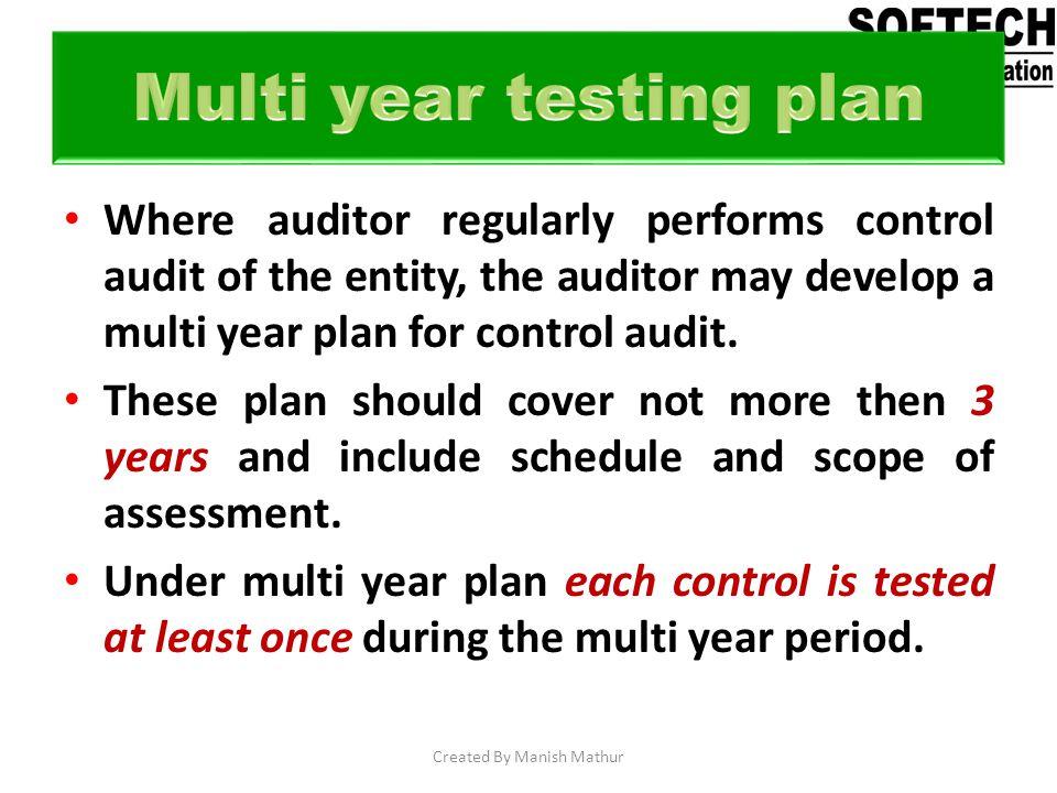 Multi year testing plan