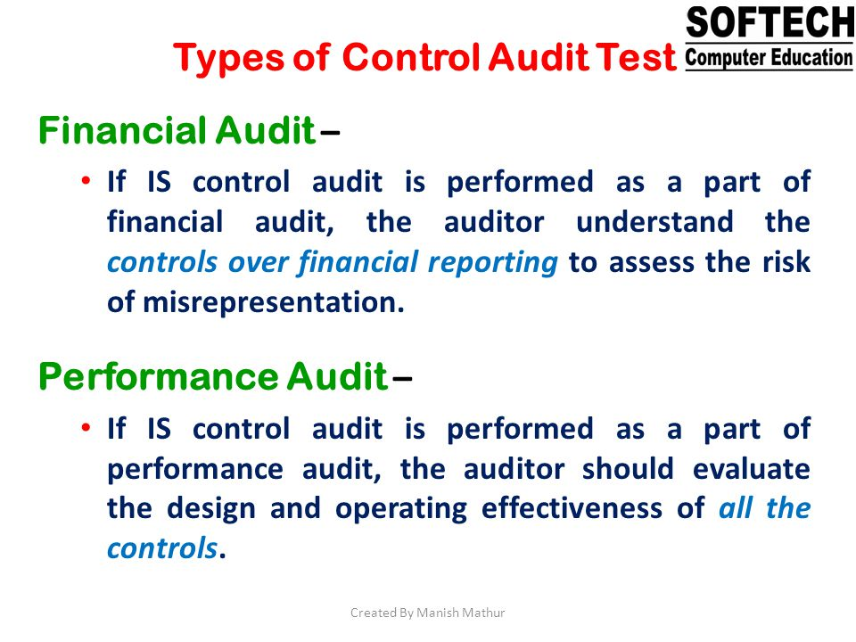Types of Control Audit Test