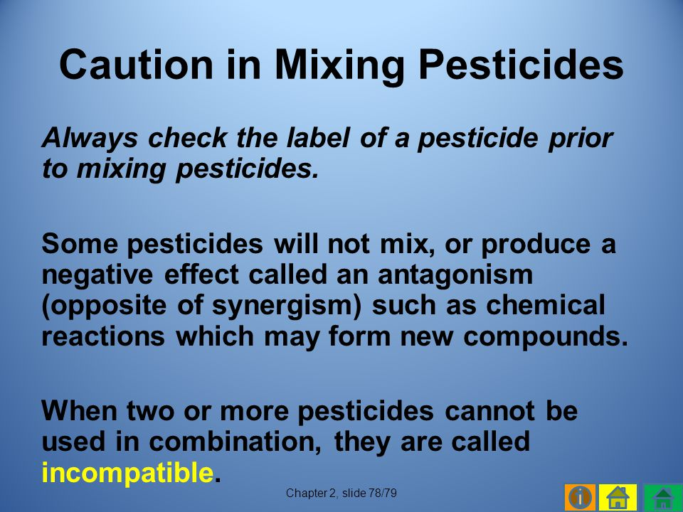 Caution in Mixing Pesticides