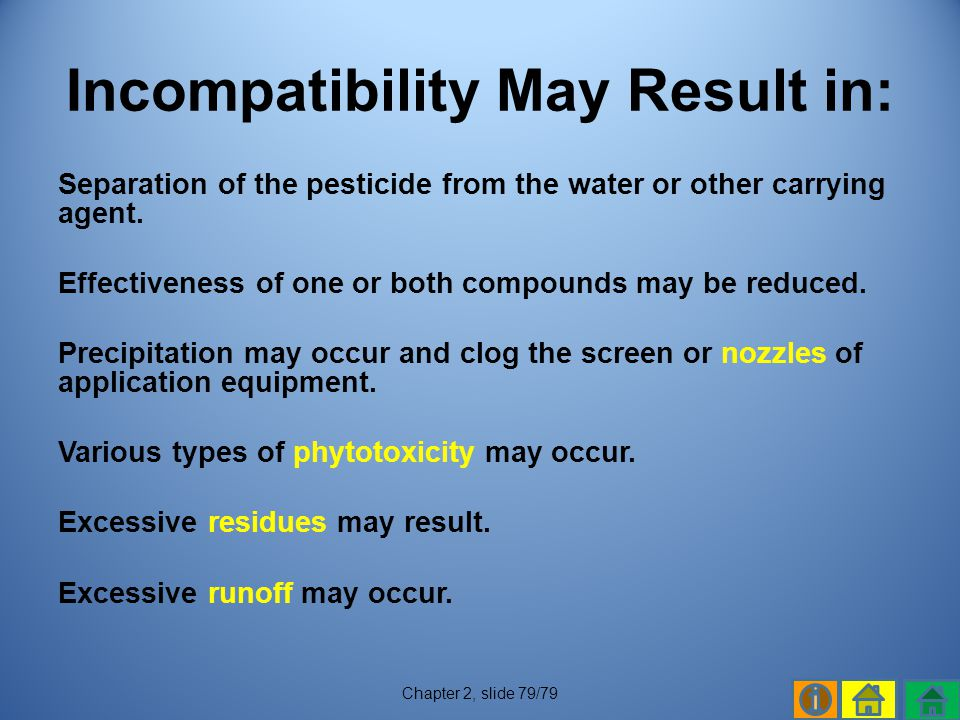 Incompatibility May Result in: