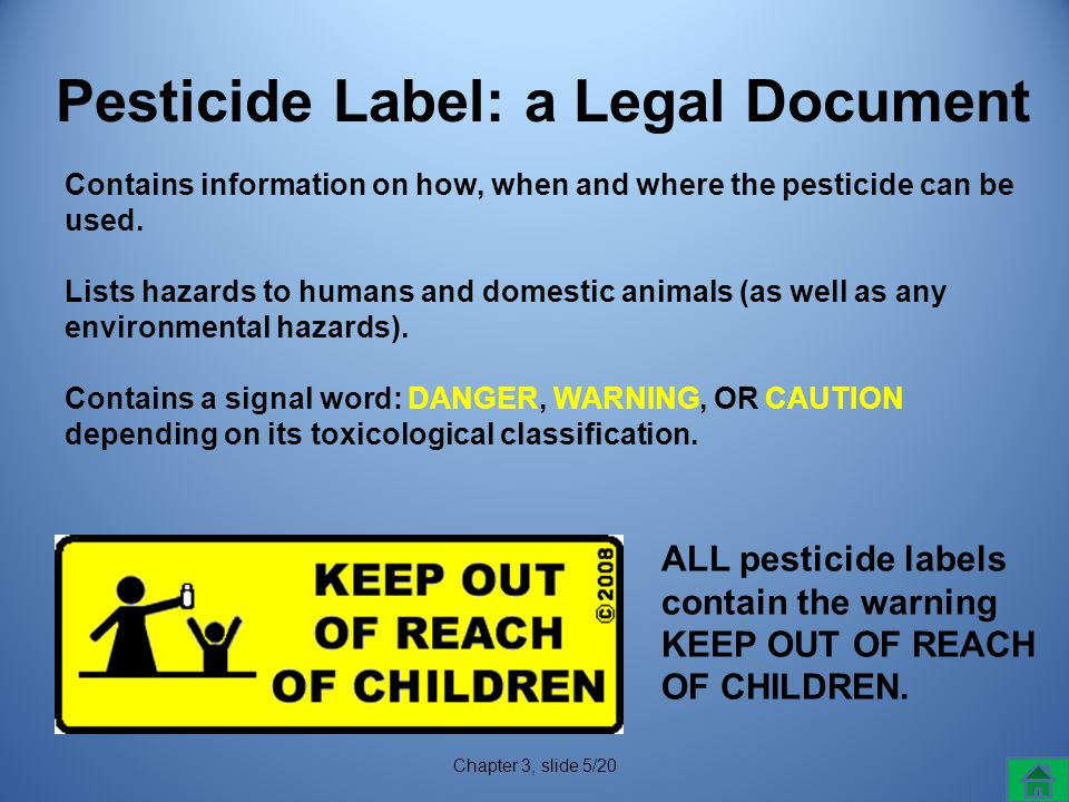 Pesticide Label: a Legal Document