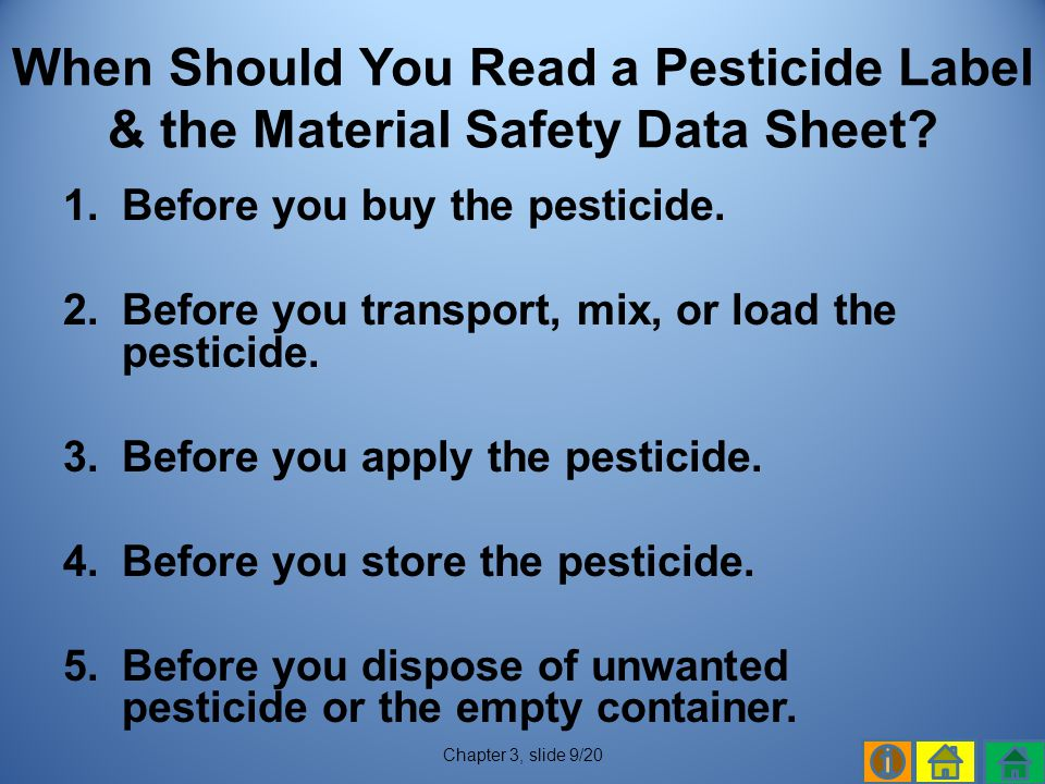 When Should You Read a Pesticide Label & the Material Safety Data Sheet