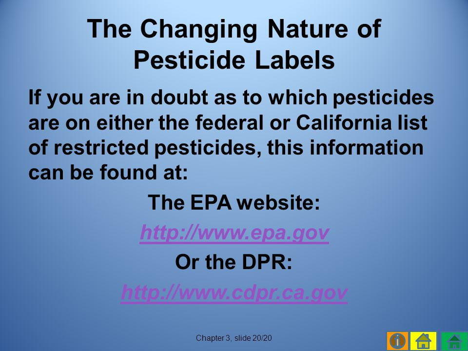 The Changing Nature of Pesticide Labels