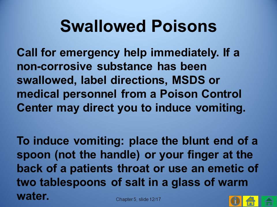 Swallowed Poisons